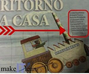 Inserto de Il messaggero Veneto dedicato al reshoring