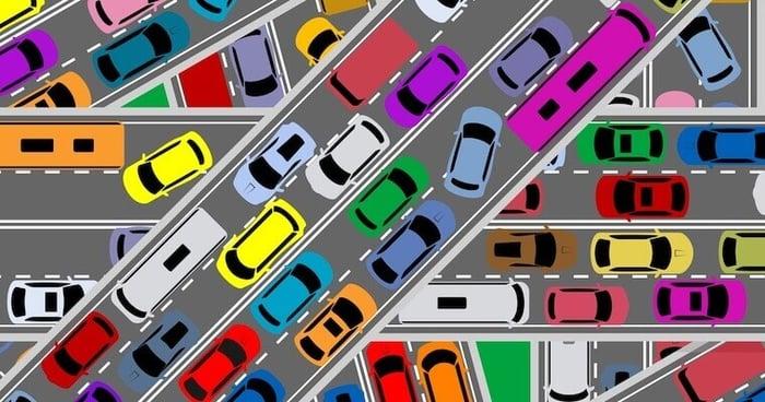 flusso di traffico bloccato