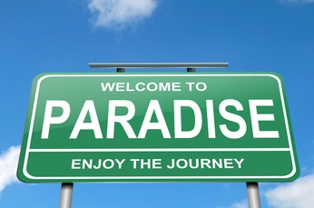 Concetto di paradiso